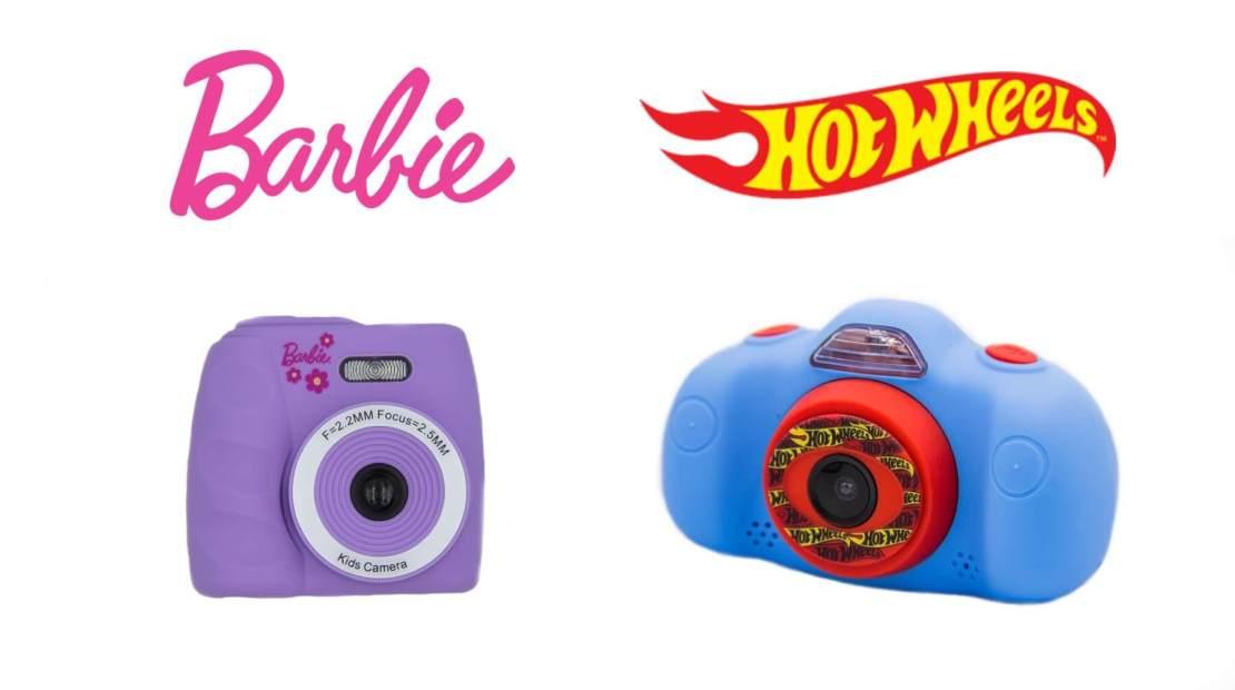 Cyfrowe aparaty fotograficzne dla dzieci Barbie i Hot Wheels