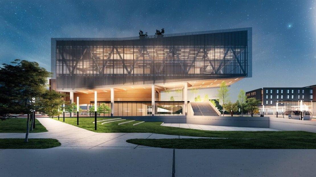 Projekt centrum Apple REJI (z przodu)