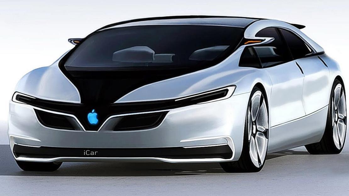 Wizualizacja samochodu elektrycznego Apple Car (iCar)