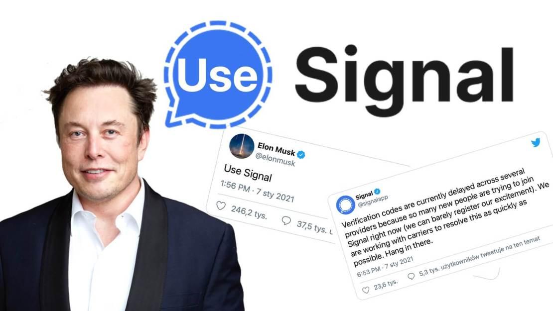 """""""Use Signal"""" - tweet Elona Muska"""