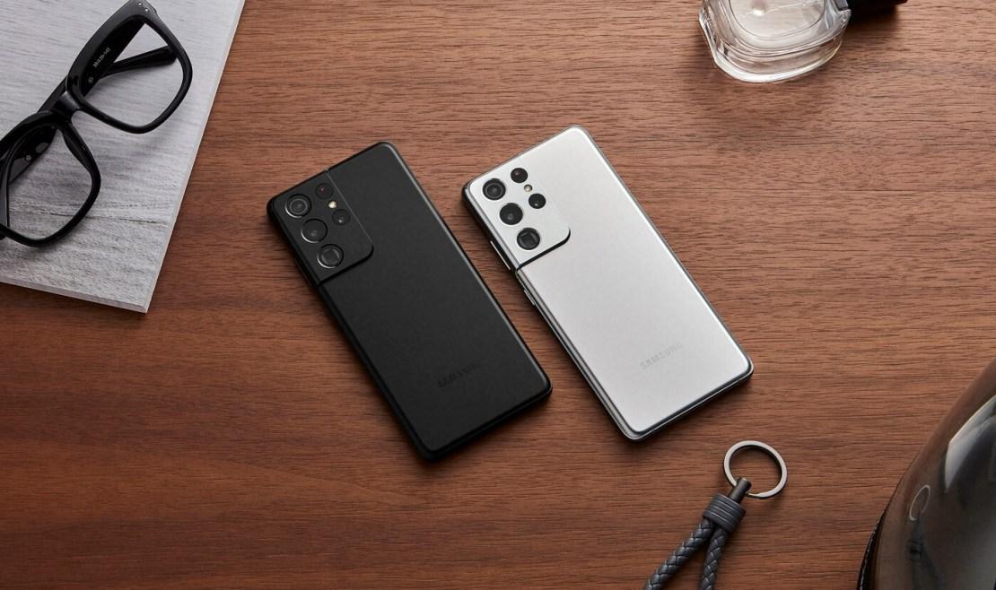 Samsung Galaxy S21 Ultra 5G (czarny i biały)