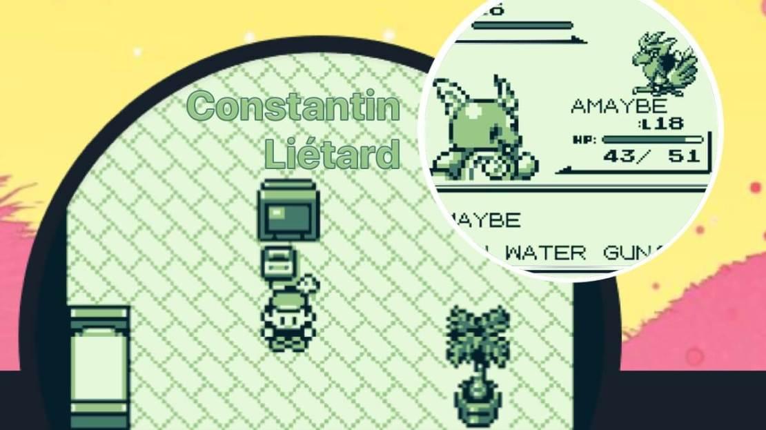 Pokemon Red na koncie Constantina Liétarda na Twitterze