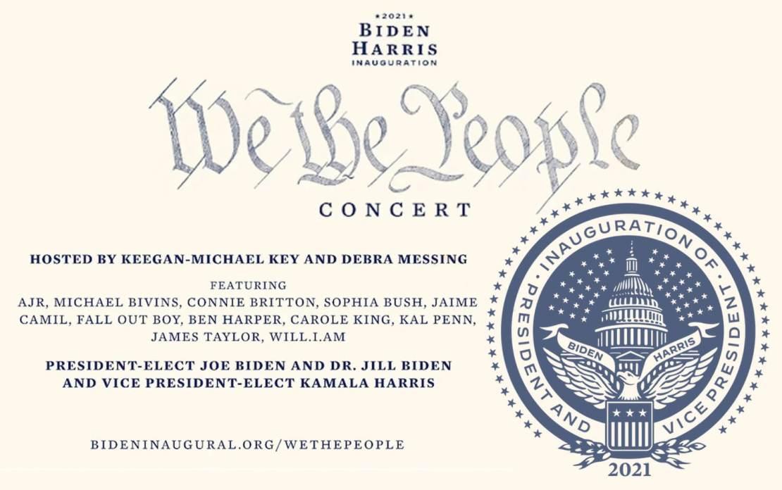 """We The People"" Joe Biden Inaugural Concert (17.01.2021)"