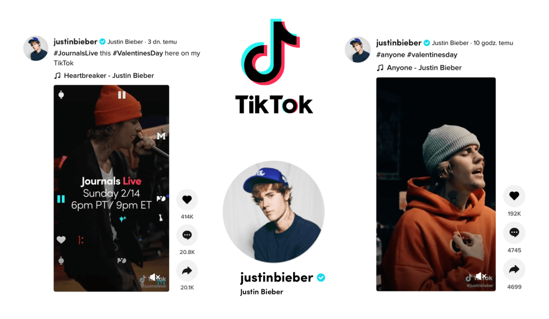Koncert Justina Biebera #JournalsLive na żywo na TikToku (14 lutego 2021 r.)