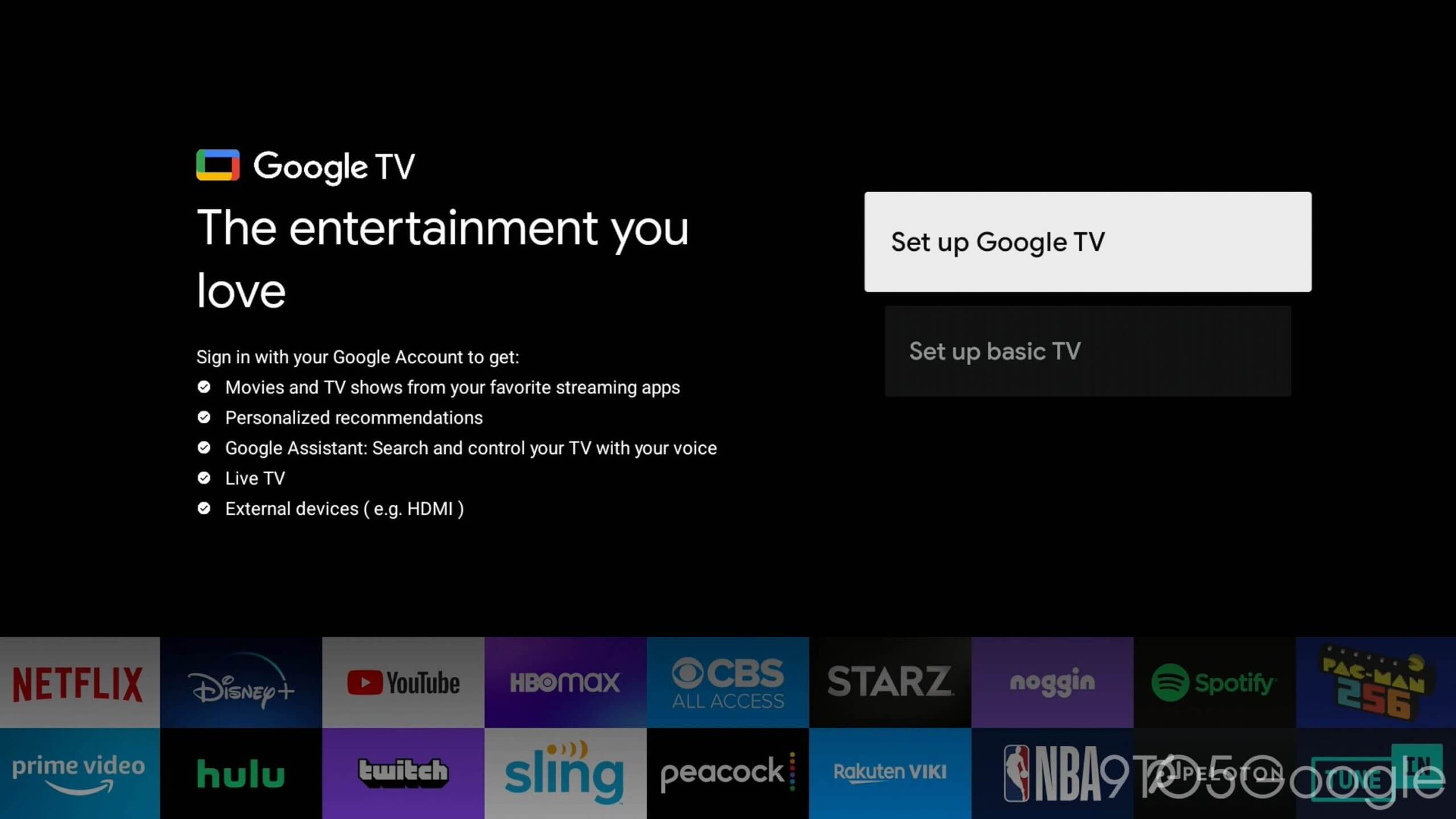 Google TV - tryb rozszerzony smart TV