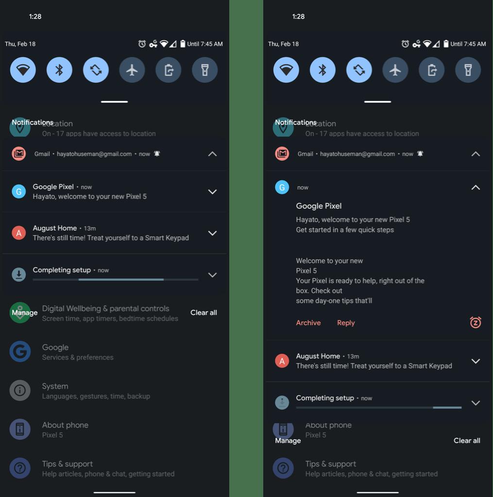 Powiadomienia (Android 12)