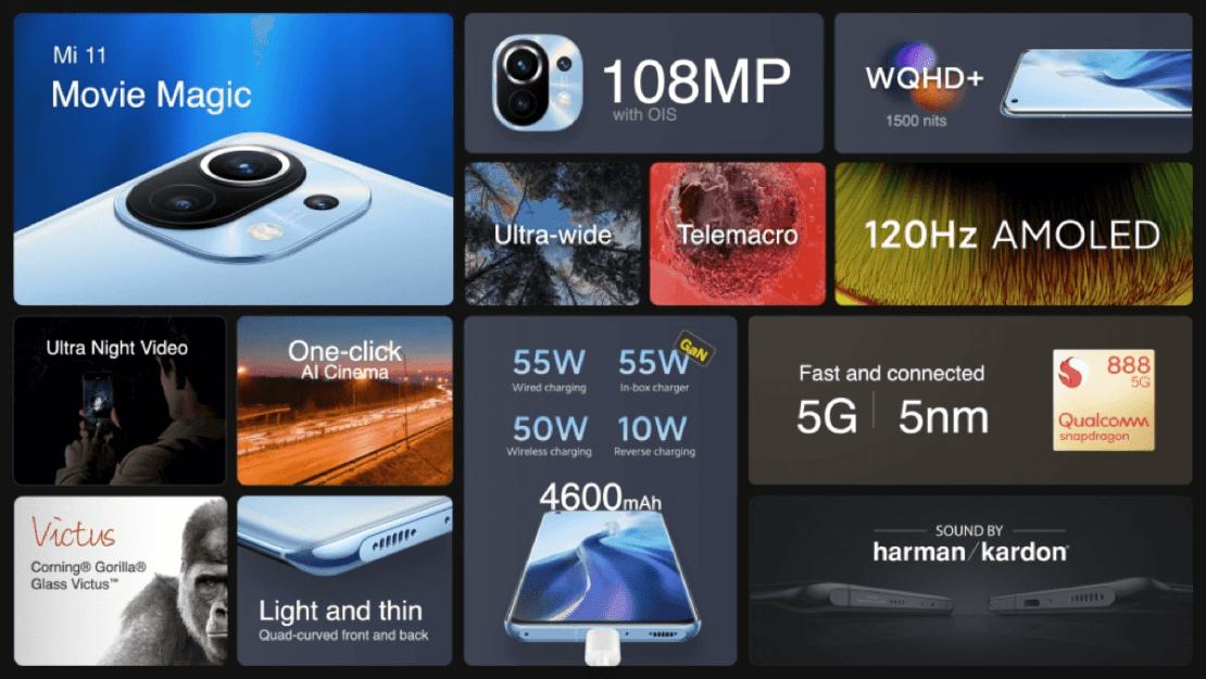 Xiaomi Mi 11 spec