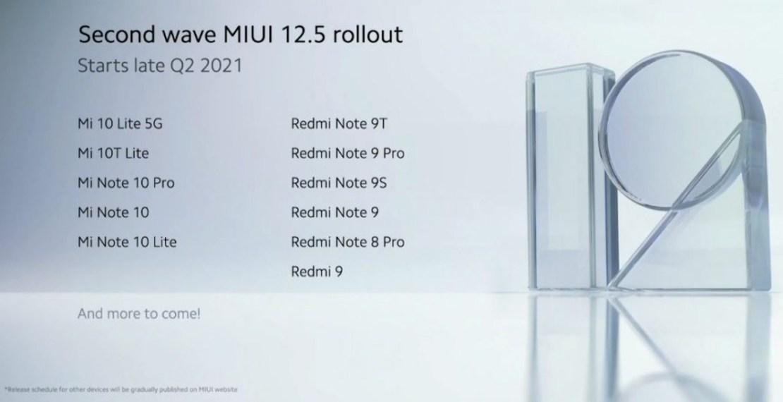 2 fala aktualizacji MIUI 12.5 - lista modeli