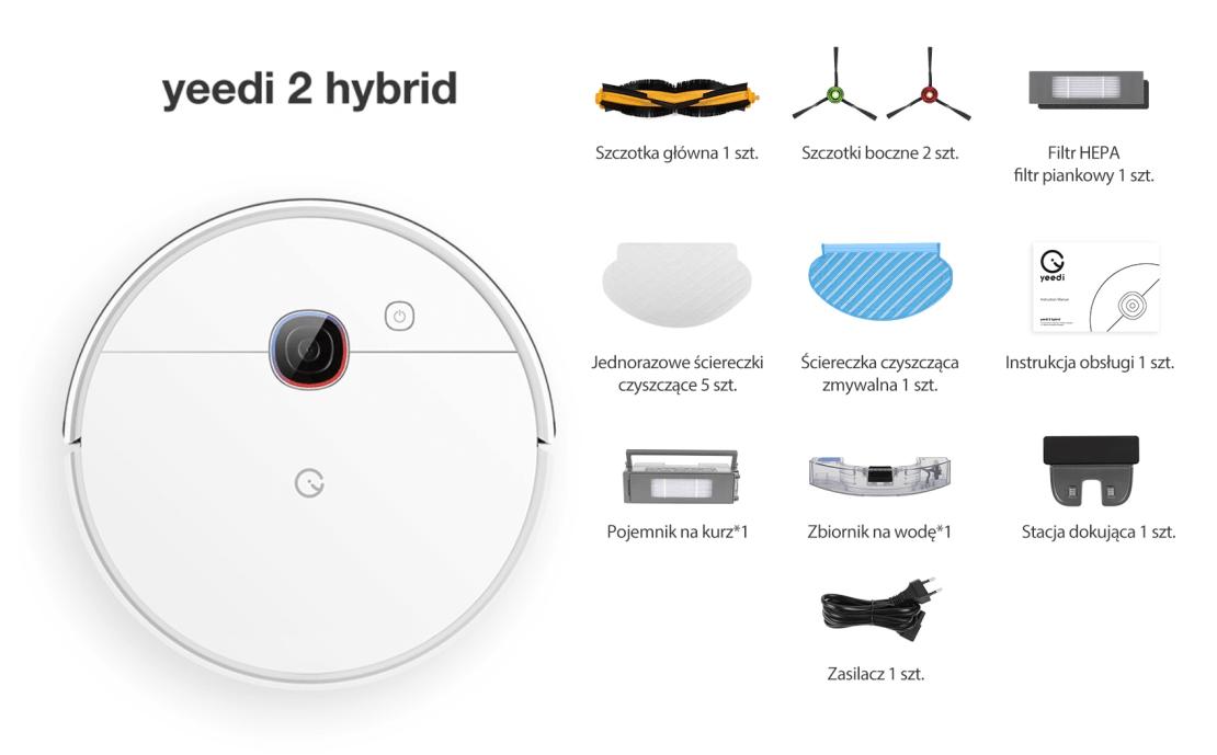 Co w zestawie yeedi 2 hybrid?