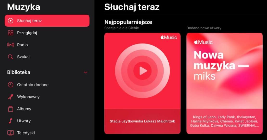 Osobista stacja radiowa w Apple Music