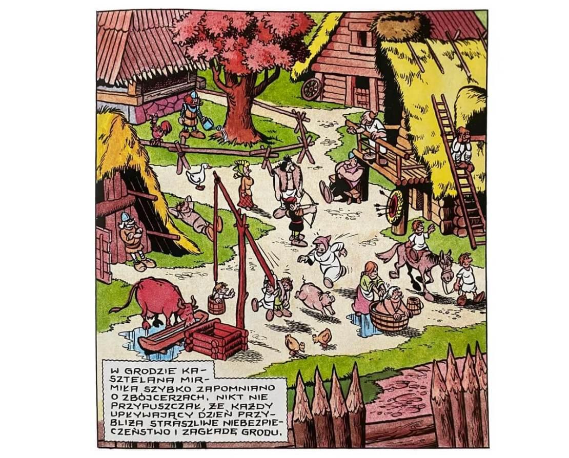 """Fragment komiksu """"Kajko i Kokosz – Na wczasach"""""""