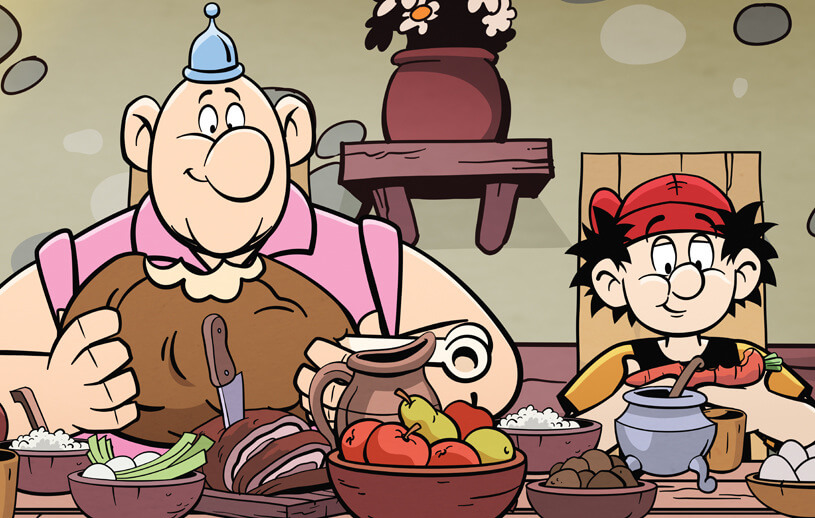 """Kadr z serialu animowanego """"Kajko i Kokosz"""" (Netflix, 2021)"""