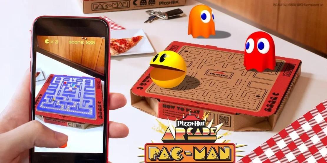 Pudełka Pizzy Hut z grą Pac-Man w AR
