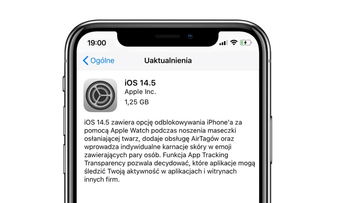 iOS 14.5 OTA update