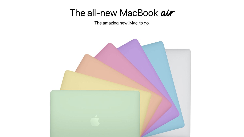 Koncepcje kolorowych MacBooków Air z 2021 roku