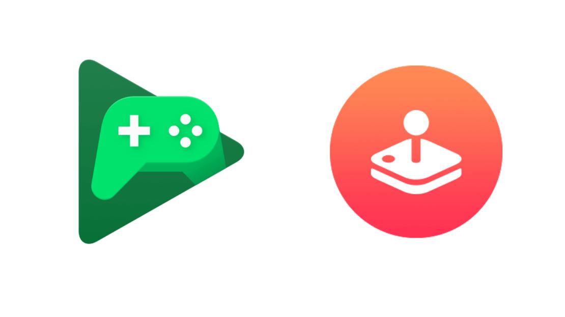 Ikony Google Play Games i Apple Arcade