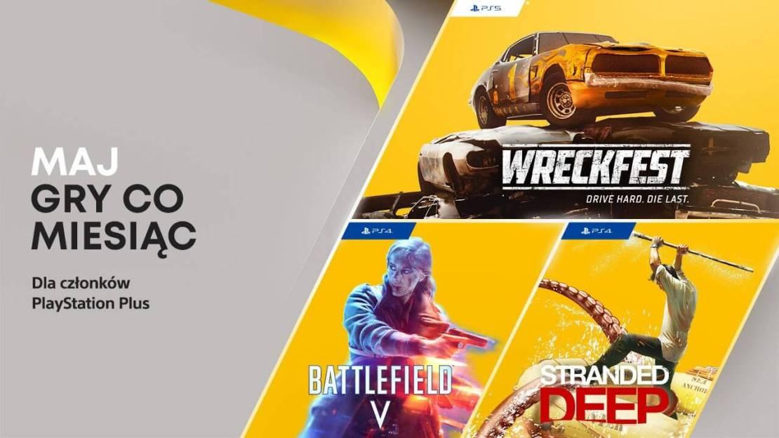 Darmowe gry w ramach subskrypcji PlayStation Plus w maju 2021 roku