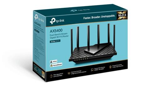 Pudełko routera Archer AX73 od TP-Link (wersja EU)