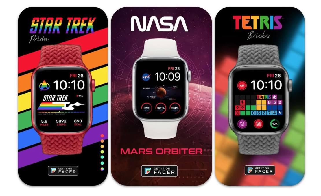 Facer – tarcze dla Apple Watcha - motywy Star Trek, NASA i Tetris