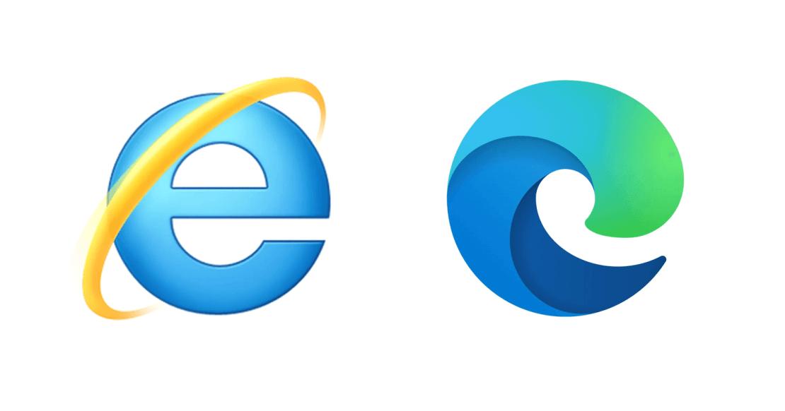 Internet Explorer i Microsoft Edge (logo)