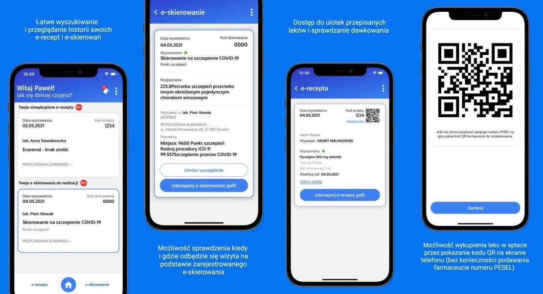 mojeIKP – zaloguj się do zdrowia (zrzuty ekranu z aplikacji mojeIKP)