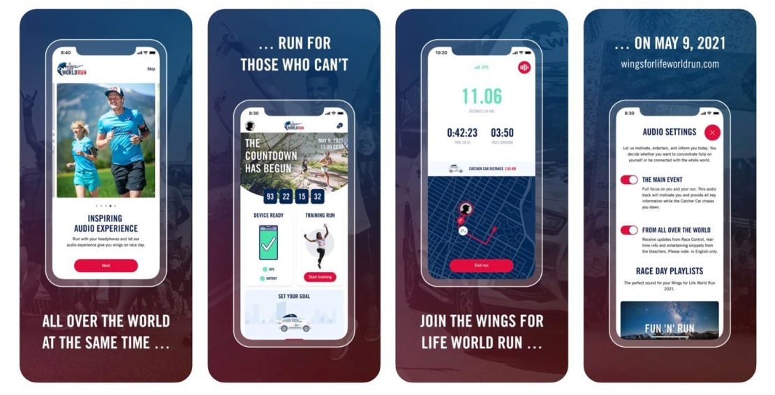 Aplikacja mobilna Wings for Life World Run