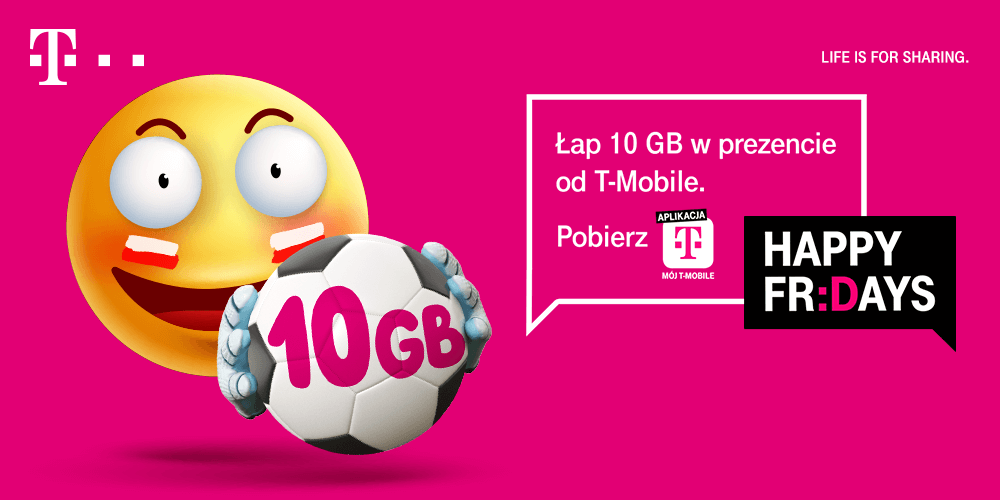 Bezpłatne 10 GB na EURO 2020 od T-Mobile Polska