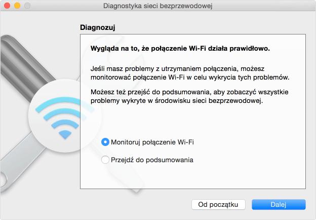 Diagnostyka sieci Wi-Fi (macOS)