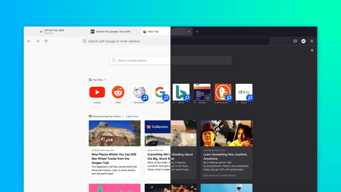 Firefox 89 Proton redesign