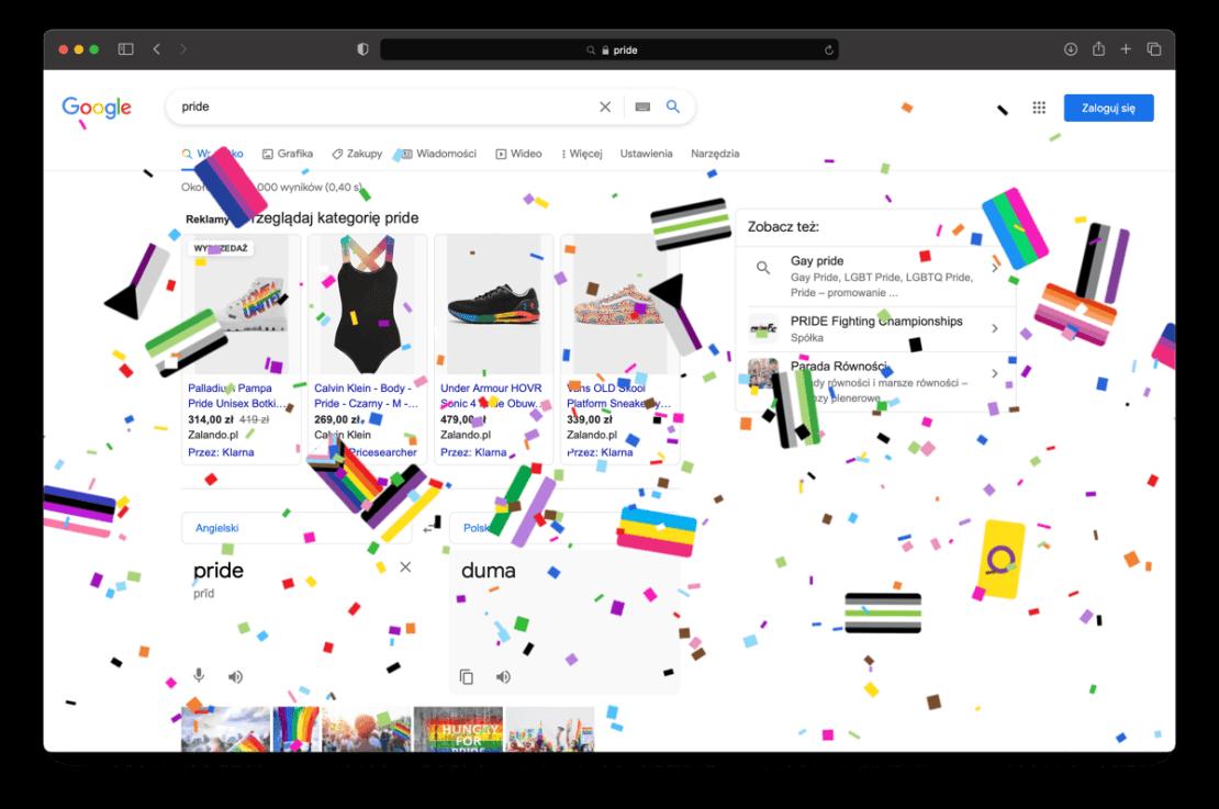 Pride - Google Search PL (2021)
