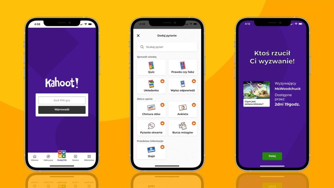 Aplikacja Kahoot! dostępna w języku polskim