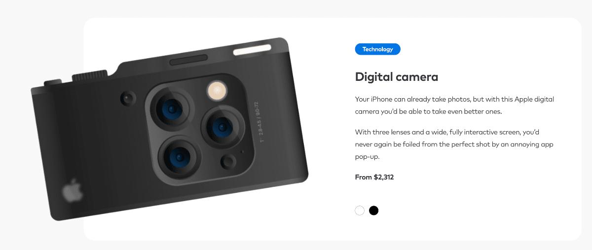 Koncepcja aparatu cyfrowego firmy Apple