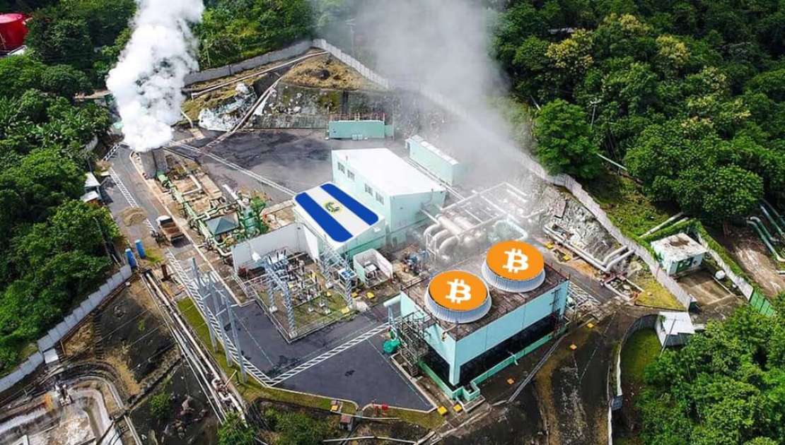 Pozyskiwanie energii geotermalnej z wulkanów w elektrowni LaGeoSV do kopania bitcoinów
