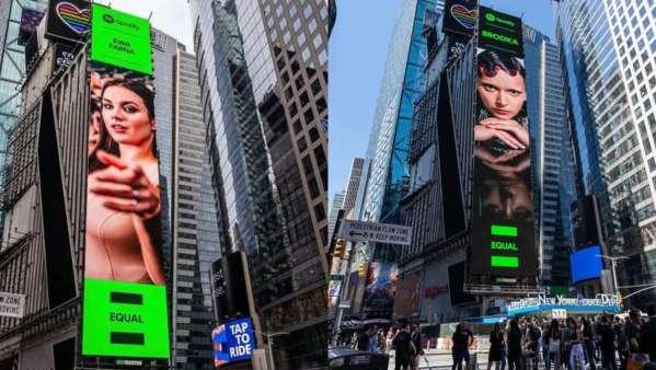 LUNA i Brodka na billboardach kampanii Spotify EQUAL na Times Square