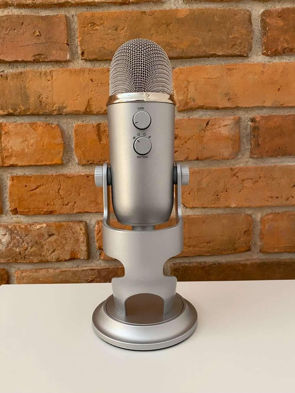 Mikrofon Blue Yeti (srebrny, tył)