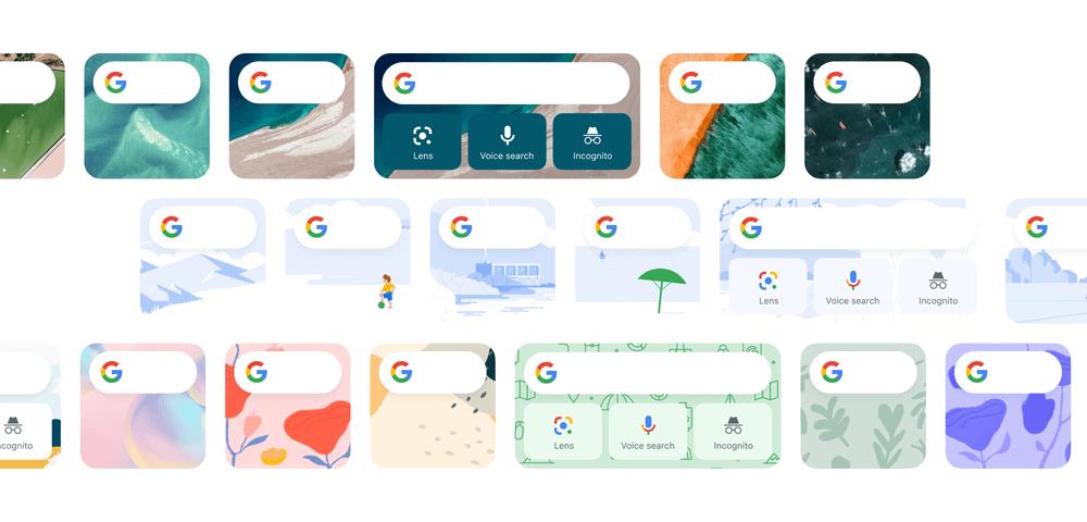 Motywy widgetów Google pod systemem iOS