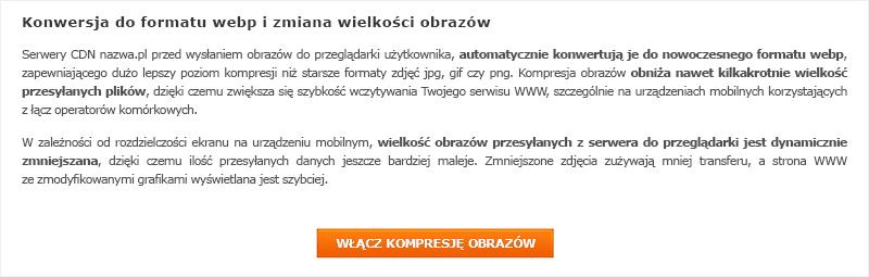 Włączanie opcji kompresji obrazów na hostingu w nazwa.pl