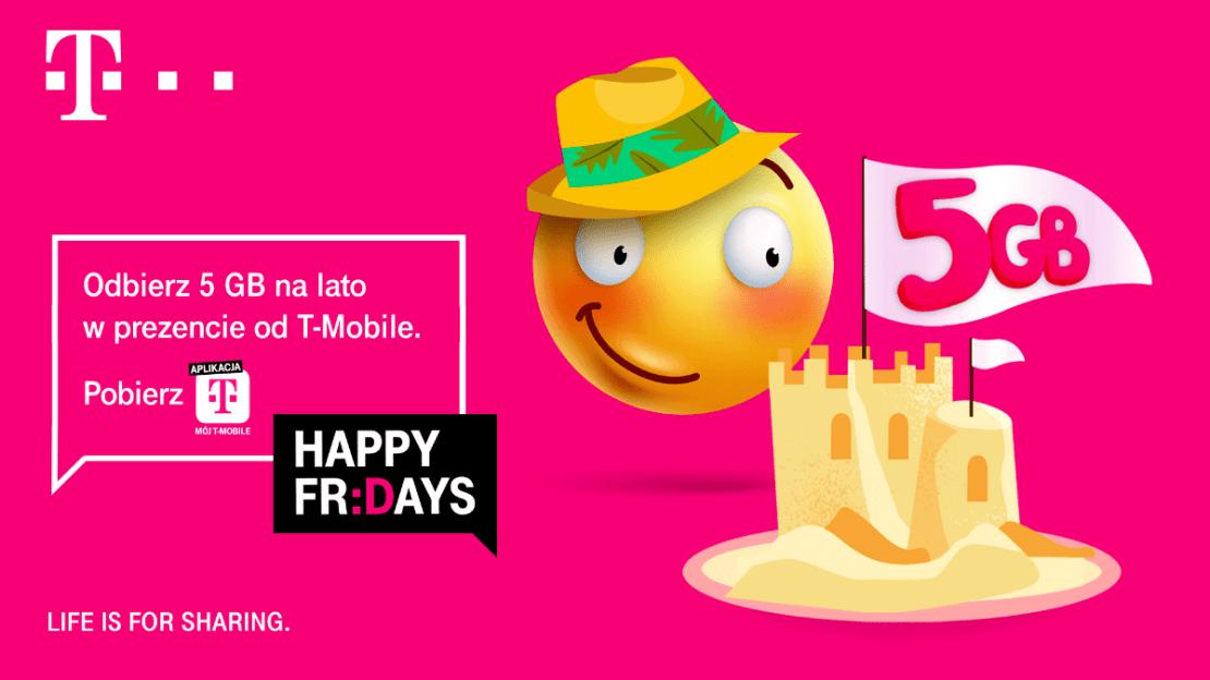 5 GB na lato od T-Mobile w ramach Happy Fridays