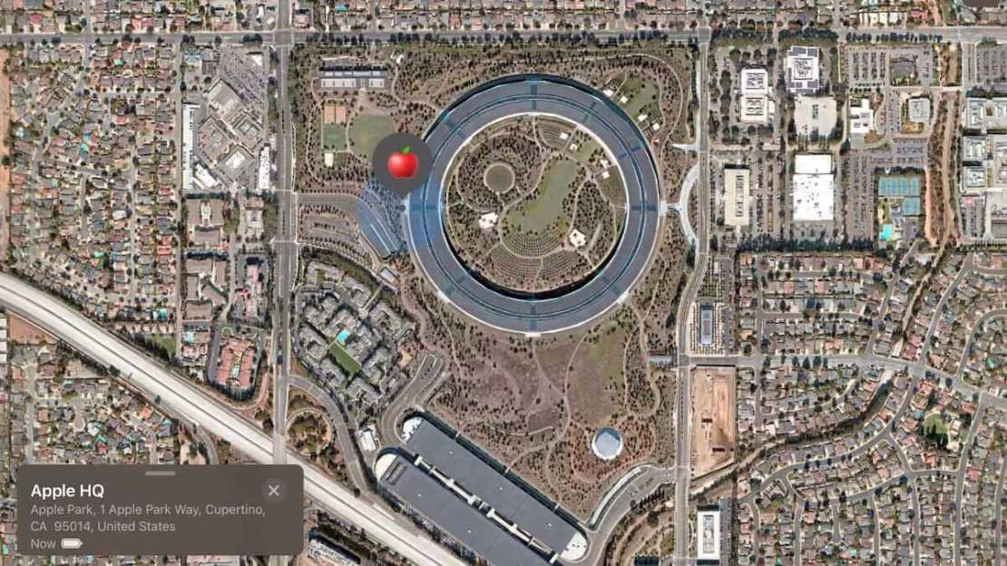 AirTag dotarł na Apple Park i YouTuber zidentyfikował go na mapie w aplikacji Znajdź