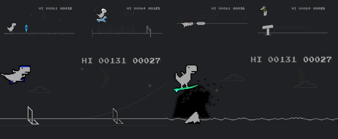 Dino z przeglądarki Chrome bierze udział w konkurencjach olimpijskich
