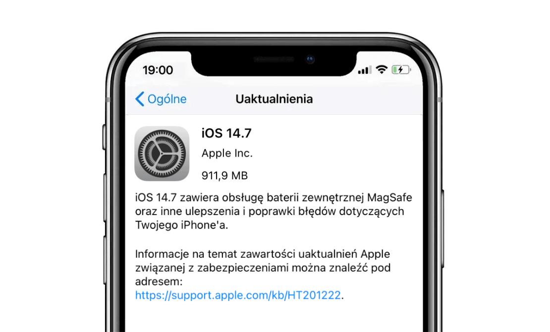 iOS 14.7 OTA update