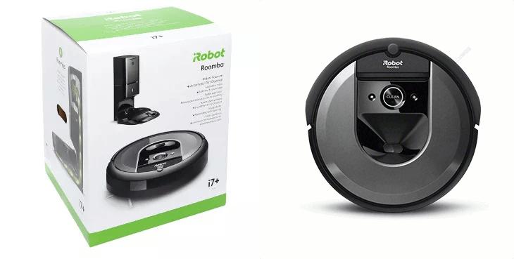 opakowanie i robot iRobot Roomba i7+