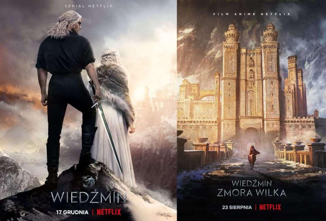 Plakaty Netflix: Wiedźmin 2. sezon i Wiedźmin: zmora wilka