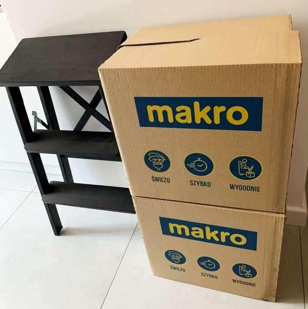 InPost Fresh - opakowanie zakupów z makro - pudełka