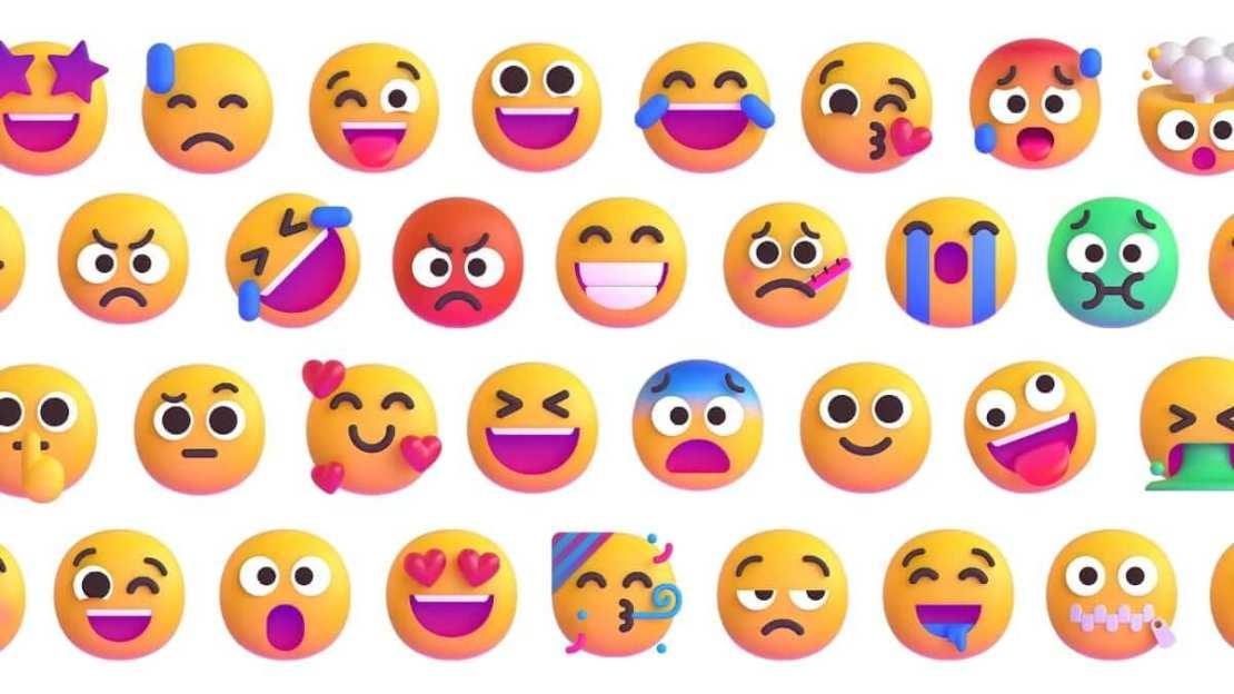 Uśmiechnięte Emoji 3D firmy Microsoft (2021)