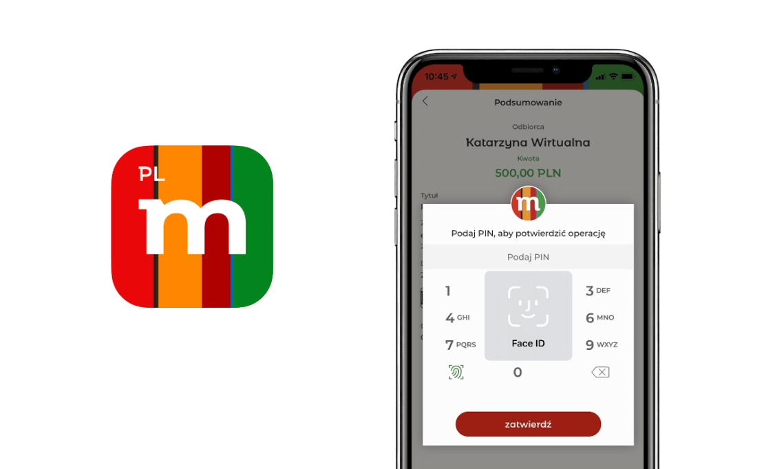Biometryczne potwierdzanie operacji w aplikacji mobilnej mBanku