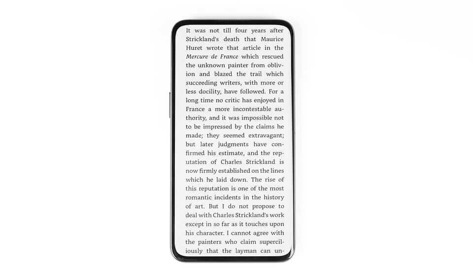 Czytanie e-booków na pełnym ekranie OPPO