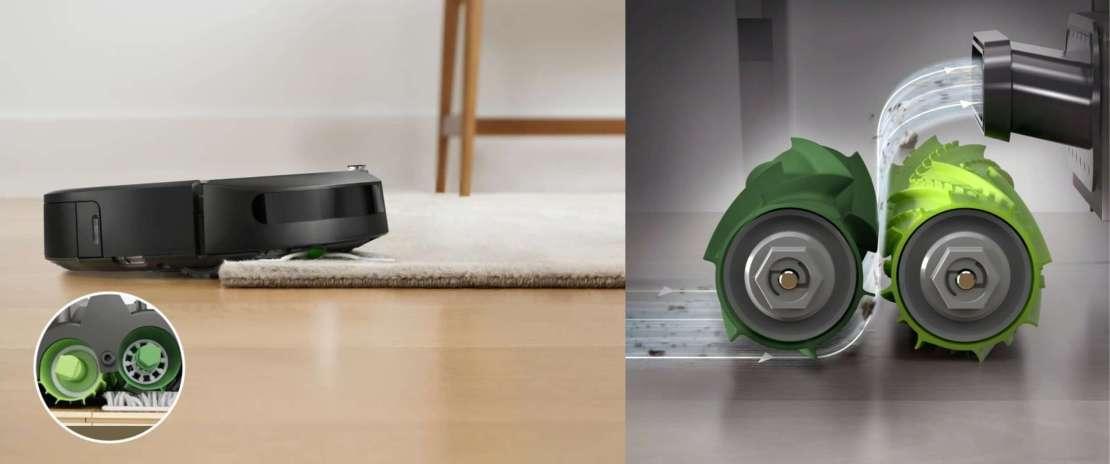 System 2 gumowych szczotek w iRobot Roomba i7+
