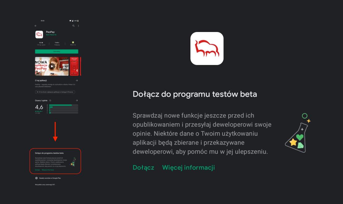 Testy beta aplikacji PeoPay Banku Pekao na Androida dostępne dla klientów