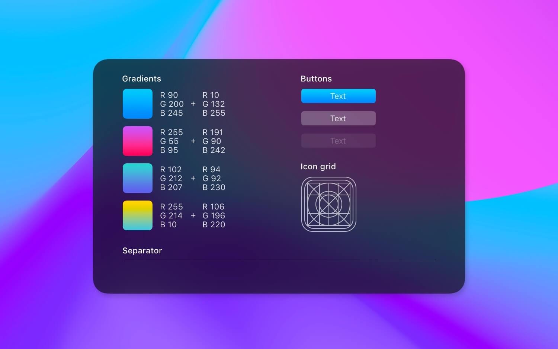 Inteligentne filtry z maskami i pewnymi stylami warstw w Pixelmator Pro 2.1.3